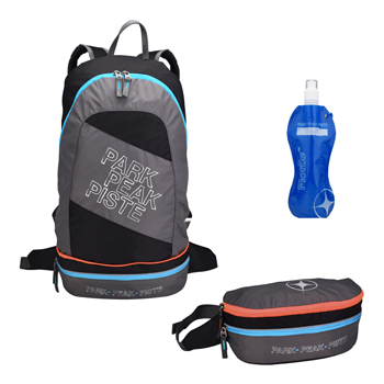 Mountain Pac Backpack 2 in 1 Rock-Blue-Orange